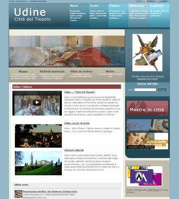 Websites for cultural institutions