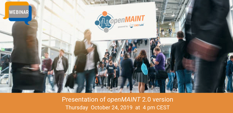 October 26th 2019 - openMAINT 2.0