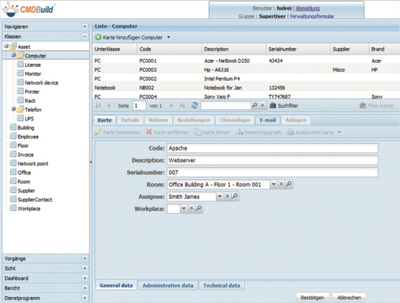 Keeping track of Assets and Services Data thanks to CMDBuild